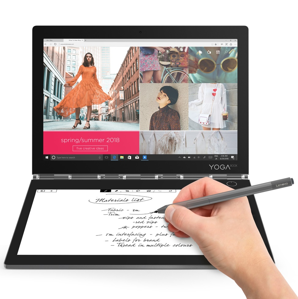 Lenovo Yoga Book C930 4G/3G WiFi BT4.2, m3-7Y30 up to 2.6GHz
