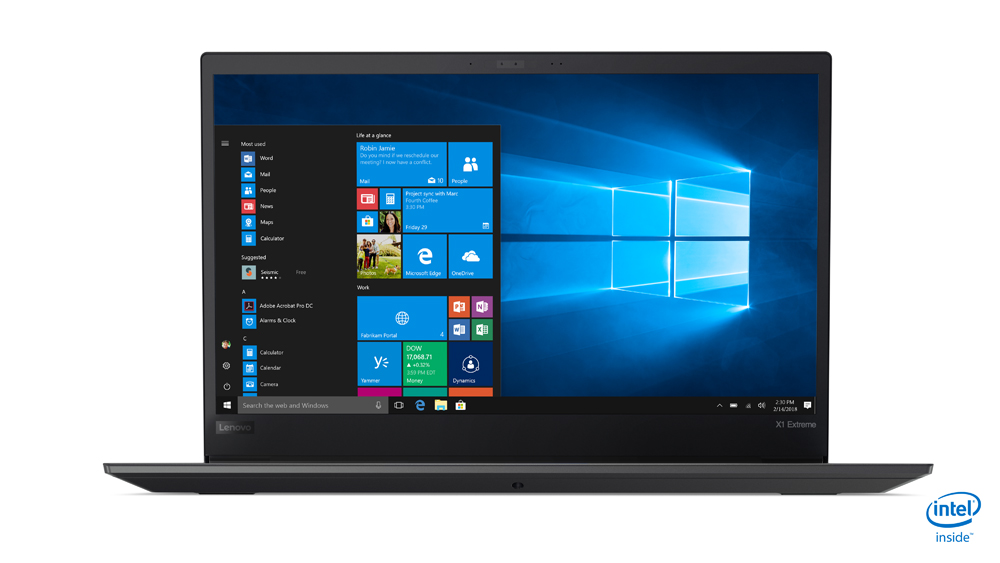 Ultrabook Lenovo ThinkPad X1 Extreme (1st Gen),Intel Core i7